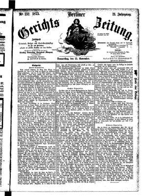 Berliner Gerichts-Zeitung vom 13.11.1873