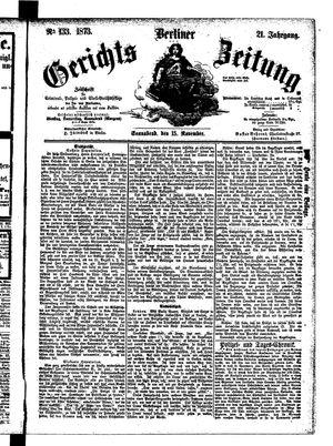 Berliner Gerichts-Zeitung vom 15.11.1873