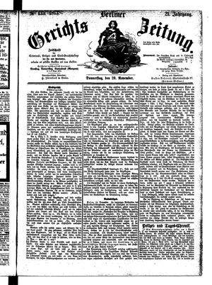 Berliner Gerichts-Zeitung on Nov 20, 1873