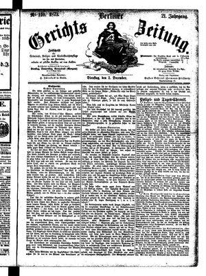 Berliner Gerichts-Zeitung vom 02.12.1873