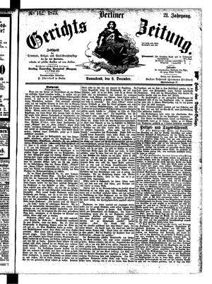 Berliner Gerichts-Zeitung vom 06.12.1873