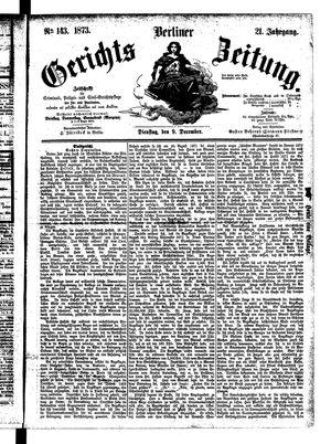 Berliner Gerichts-Zeitung vom 09.12.1873
