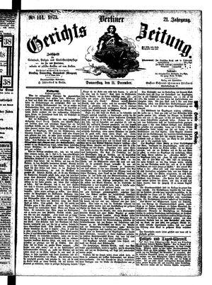 Berliner Gerichts-Zeitung vom 11.12.1873