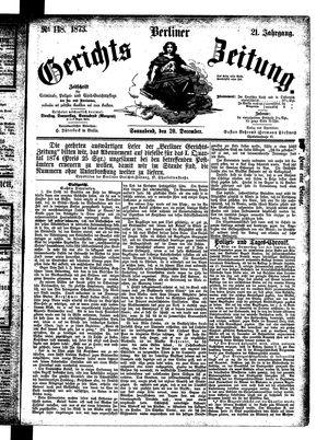 Berliner Gerichts-Zeitung vom 20.12.1873