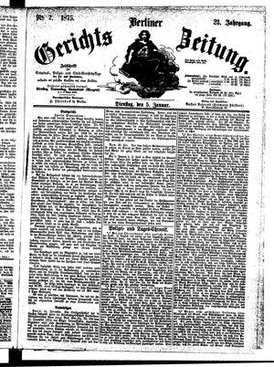 Berliner Gerichts-Zeitung vom 05.01.1875