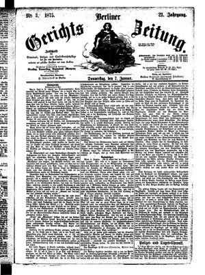 Berliner Gerichts-Zeitung vom 07.01.1875