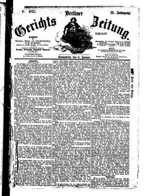 Berliner Gerichts-Zeitung vom 09.01.1875
