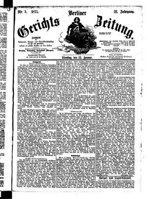 Berliner Gerichts-Zeitung vom 12.01.1875