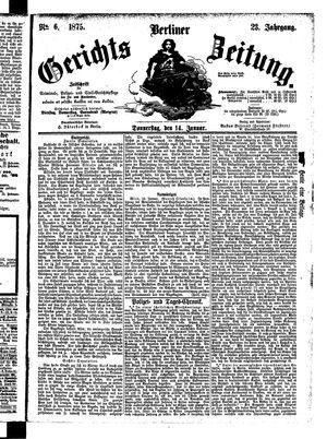 Berliner Gerichts-Zeitung vom 14.01.1875