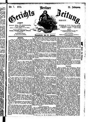 Berliner Gerichts-Zeitung vom 16.01.1875