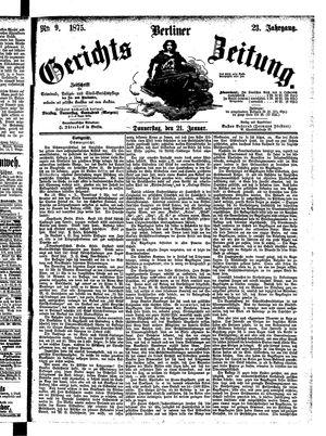 Berliner Gerichts-Zeitung vom 21.01.1875