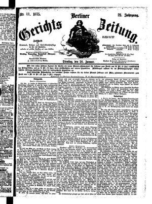 Berliner Gerichts-Zeitung vom 26.01.1875