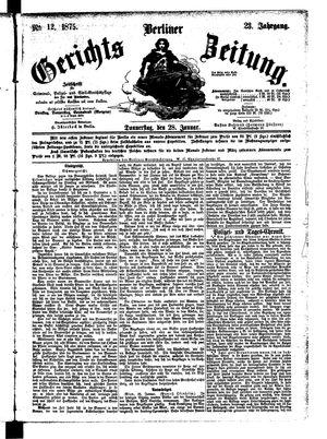 Berliner Gerichts-Zeitung vom 28.01.1875