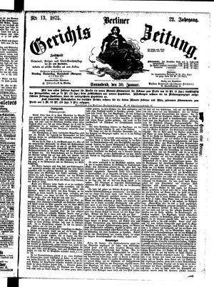 Berliner Gerichts-Zeitung vom 30.01.1875