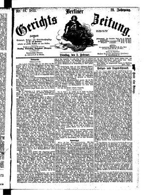 Berliner Gerichts-Zeitung vom 02.02.1875