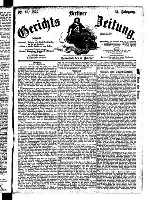 Berliner Gerichts-Zeitung vom 06.02.1875