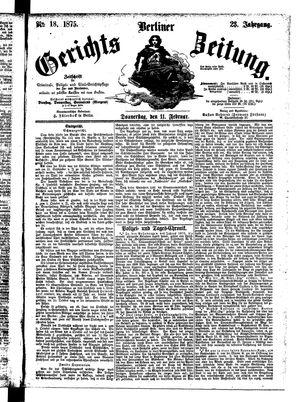 Berliner Gerichts-Zeitung vom 11.02.1875