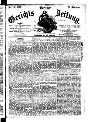 Berliner Gerichts-Zeitung vom 13.02.1875