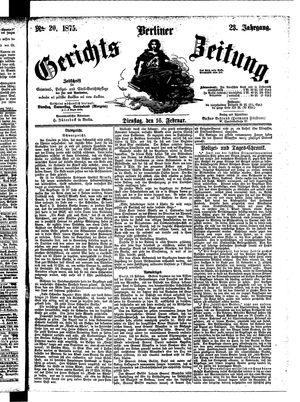 Berliner Gerichts-Zeitung vom 16.02.1875