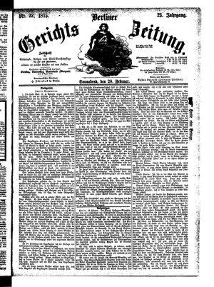 Berliner Gerichts-Zeitung vom 20.02.1875