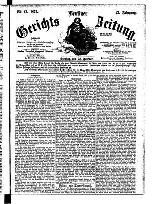 Berliner Gerichts-Zeitung vom 23.02.1875