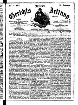Berliner Gerichts-Zeitung vom 25.02.1875