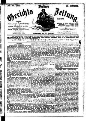 Berliner Gerichts-Zeitung vom 27.02.1875
