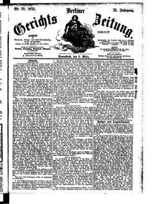 Berliner Gerichts-Zeitung vom 06.03.1875