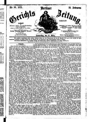 Berliner Gerichts-Zeitung vom 18.03.1875