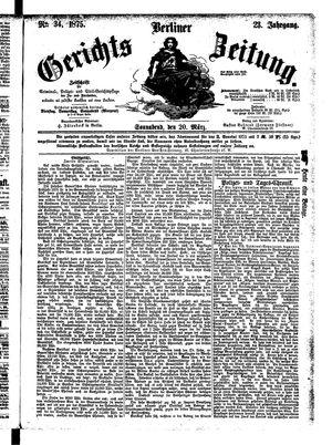 Berliner Gerichts-Zeitung on Mar 20, 1875