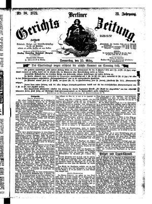 Berliner Gerichts-Zeitung vom 25.03.1875