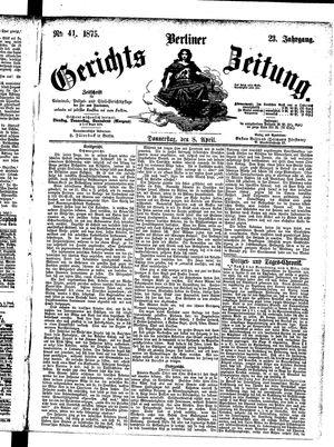 Berliner Gerichts-Zeitung vom 08.04.1875