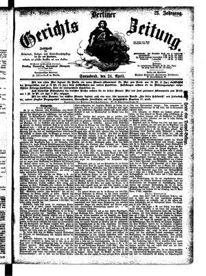 Berliner Gerichts-Zeitung vom 24.04.1875