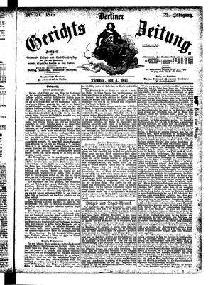 Berliner Gerichts-Zeitung vom 04.05.1875