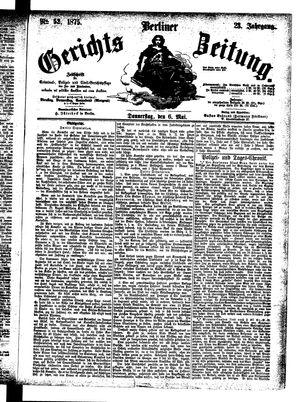 Berliner Gerichts-Zeitung vom 06.05.1875