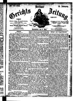 Berliner Gerichts-Zeitung vom 08.05.1875