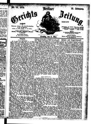 Berliner Gerichts-Zeitung on May 11, 1875