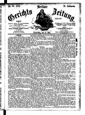 Berliner Gerichts-Zeitung vom 13.05.1875