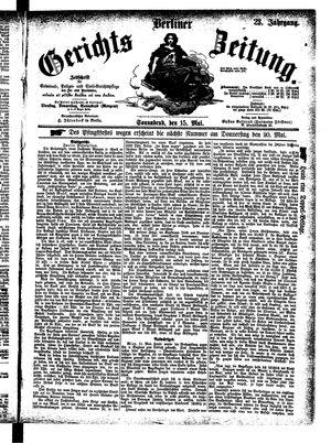 Berliner Gerichts-Zeitung vom 15.05.1875