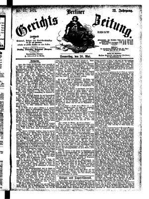 Berliner Gerichts-Zeitung on May 20, 1875