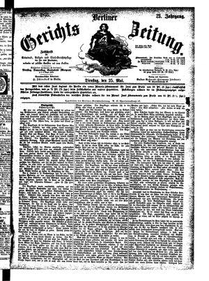 Berliner Gerichts-Zeitung vom 25.05.1875