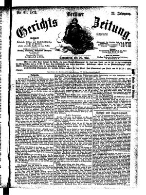 Berliner Gerichts-Zeitung vom 29.05.1875