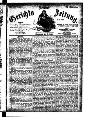Berliner Gerichts-Zeitung on Jun 5, 1875
