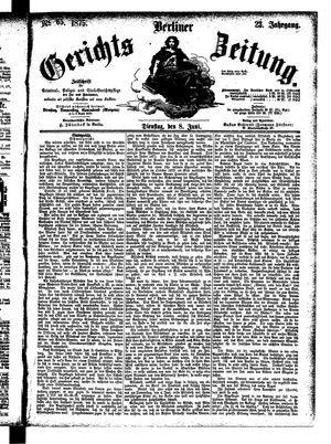 Berliner Gerichts-Zeitung vom 08.06.1875