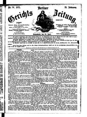 Berliner Gerichts-Zeitung vom 19.06.1875