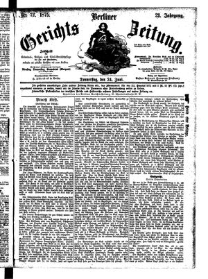 Berliner Gerichts-Zeitung vom 24.06.1875