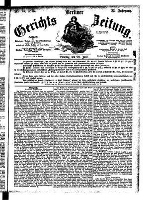 Berliner Gerichts-Zeitung vom 29.06.1875