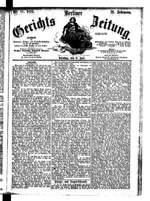 Berliner Gerichts-Zeitung vom 06.07.1875