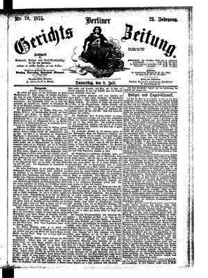 Berliner Gerichts-Zeitung vom 08.07.1875