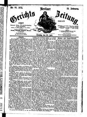 Berliner Gerichts-Zeitung vom 20.07.1875